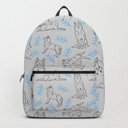 Siberian Husky Pattern (Light Gray) Backpack