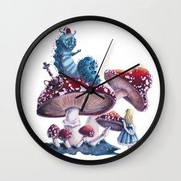 Caterpillar and Alice Wall Clock