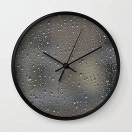 autumn window Wall Clock