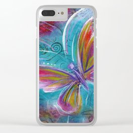 Butterfly! Original painting by Mimi Bondi Clear iPhone Case
