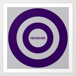 Face Goes Here Art Print