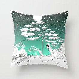Hunting centipedes Throw Pillow