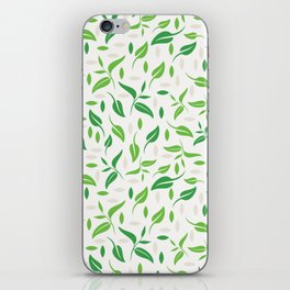 Tea leaves pattern Abstract iPhone Skin