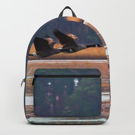 Flying Canadian Geese Backpack