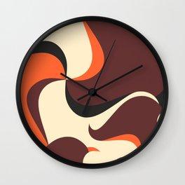 Retro Style 70s Wave Print Wall Clock