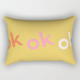 ok x 3 Rectangular Pillow