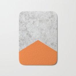Concrete Arrow - Orange #118 Bath Mat