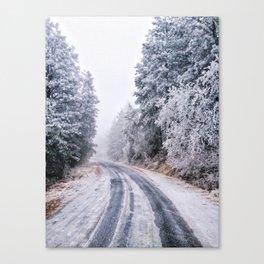 Frosty Backroads Canvas Print