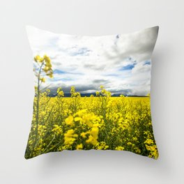 Fields of yellow - Floral Photography #Society6 Throw Pillow