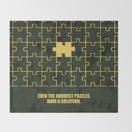 Lab No. 4 -Even The Hardest Puzzles Have A Solution Corporate Start-Up Quotes Throw Blanket