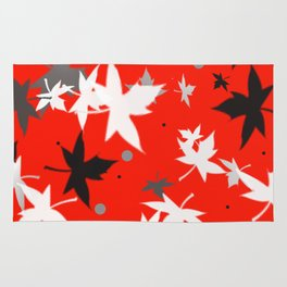 Forever Autumn Leaves red 5 Rug