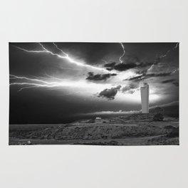 Lightning over Lighthouse Rug