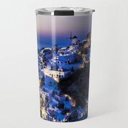 Santorini Island NightView Greece Travel Mug