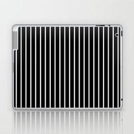 Vertical Lines (White/Black) Laptop & iPad Skin