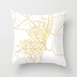 BOGOTA COLOMBIA CITY STREET MAP ART Throw Pillow