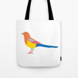 Colored Magpie Tote Bag