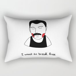 I want to break free Rectangular Pillow