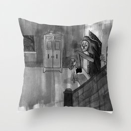 Late night visit Throw Pillow