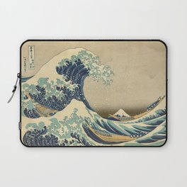 The Great Wave - Katsushika Hokusai Laptop Sleeve