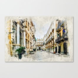 Trapani art 1 Canvas Print