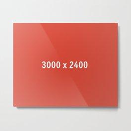 3000x2400 Placeholder Image Artwork (Google Plus Red) Metal Print