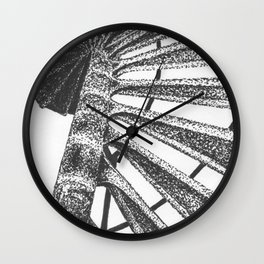Cape Henry Lighthouse Spiral Stairs Wall Clock
