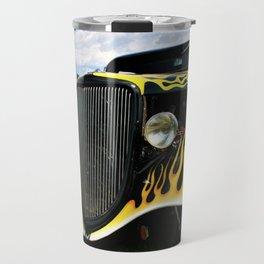 Flames on Black Chevy Travel Mug