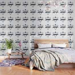 Cosmic Whale. Geometric Style Wallpaper