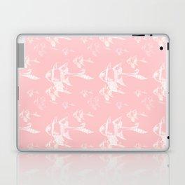 White on Pink Laptop & iPad Skin