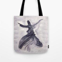 whirling dervish - sufi meditation - ink wash Tote Bag