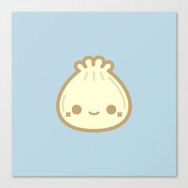 Yummy cute steamed bun Canvas Print