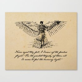 Oscar Wilde - Icarus Canvas Print