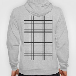 Checkered black and white classic pattern Hoody