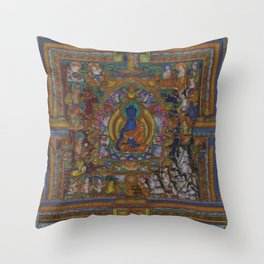 The Medicine Buddha Throw Pillow