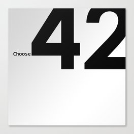 Choose 42 for your Towel Day Canvas Print