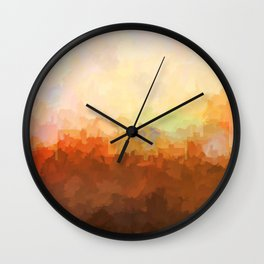 Chatanooga, Tennessee Skyline - In the Clouds Wall Clock