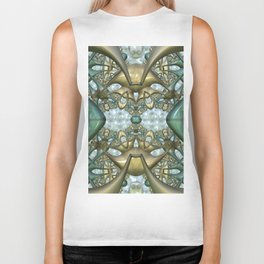 Digital adventure, fractal abstract Biker Tank