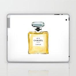 Classic Yellow Perfume Parfum Fashion Bottle Cute Minimalist Laptop & iPad Skin