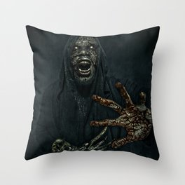 Boogie Horror: Mirror Mask - Bloody Hand Throw Pillow