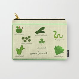 Colors: green (Los colores: verde) Carry-All Pouch