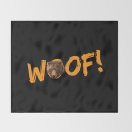 Woof! Throw Blanket