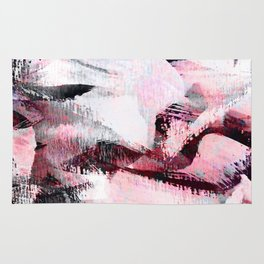abstract painting with a little pink shade Rug