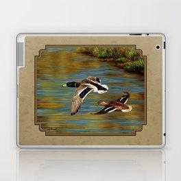 Mallard Ducks in Flight Laptop & iPad Skin