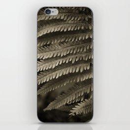 Copper-ized Ferns Fight for Sunshine iPhone Skin