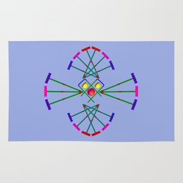 Croquet - Mallets,Balls and Hoops Design Rug