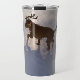"""DASHING THROUGH THE SNOW ...Christmas PLaY-Do'LPH"" from the photo series""My dog, PLaY-DoH"" Travel Mug"