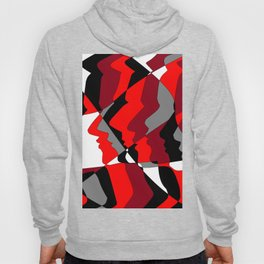 Profiles in Red, Maroon, Black, Gray and White Hoody