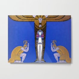 "Art Deco Orientalism ""Cleopatra"" Design Metal Print"