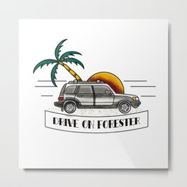 Drive On Forester Metal Print