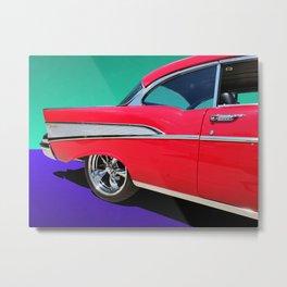Chevrolet Bel Air Rear Panel Color Pop Metal Print